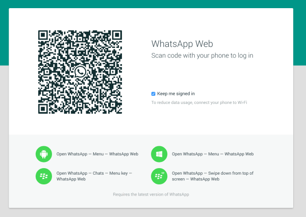 تشغيل واتس اب ويب Whatsapp 1